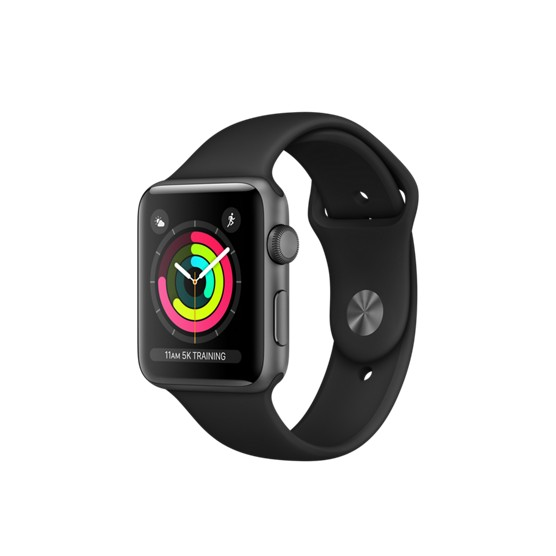 Умные часы Apple Watch Series-3 42mm MQL12 Sport Black