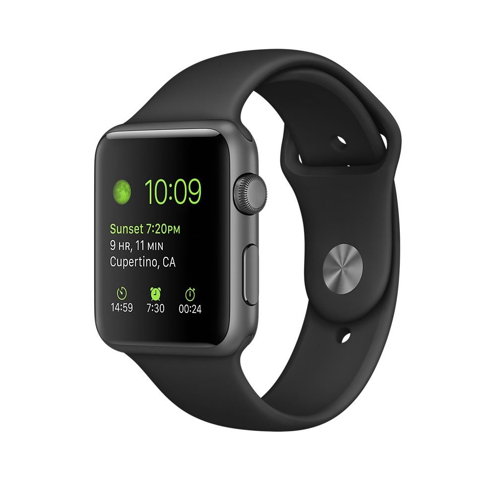 Умные часы Apple Watch Series 1, 42mm Space Grey Aluminium Model A1803