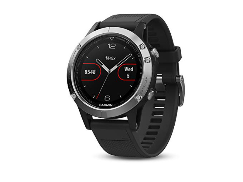 Смарт-часы Garmin Fenix 5 Glass Black/Silver, GPS Watch, WW 010-01688-03