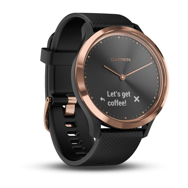 Смарт-часы GARMIN vivomove HR,E,EU,Sport,Rose Gold-Black, S/M 010-01850-26