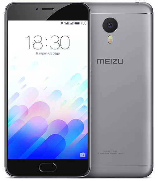 Смартфон MEIZU M5 NOTE 16GB (space gray)