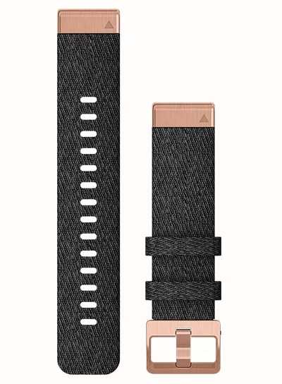 Garmin ремешок 6s 20mm QuickFit Hthr Black Nylon w/Rose Gold 010-12874-00