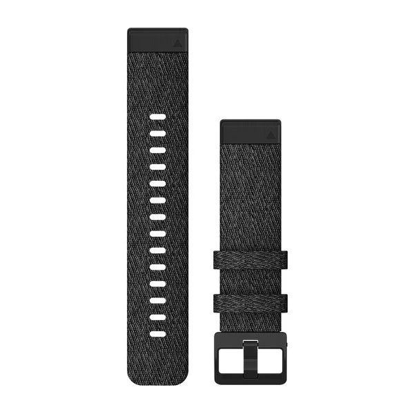 Garmin ремешок 6s 20mm QuickFit Hthr Black Nylon w/Black 010-12875-00